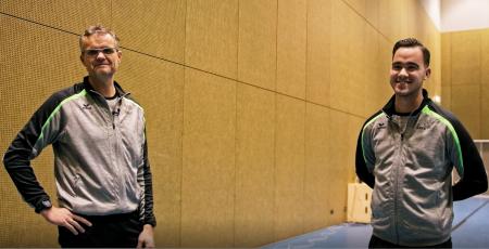 VIDEO: Arbiters Van der Terp en De Groot over voorbereiding Korfbal Leagueduel